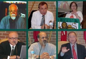 بالا از راست: نسترن نیکی، ایرج مصداقی، اسماعیل نوری علا پایین: رضا تقی زاده، محسن ابراهیمی، حسین قلی پور