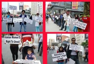 صحنه هایی از تجمع در میدان دانداس
