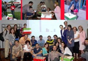جمع آوری آرا و شمارش آن با تیمی که در این انتخابات نمادین همکاری داشتند
