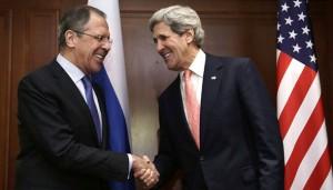 جان کری و لاوروف وزرای امور خارجه آمریکا و روسیه