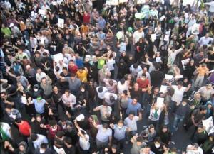 تظاهرات مسالمت آمیز مردم در جریانات پس از انتخابات ریاست جمهوری سال 1388