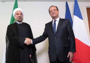 حسن روحانی با همتای خود از فرانسه دیدار کرد