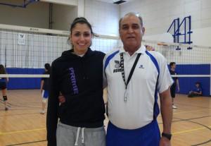 ناصر پیشوا و دخترش پریا پیشوا مربیان باشگاه هما