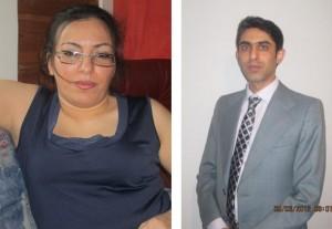 مهدی کارگر و همسرش