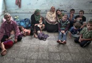 مردم در مدارس پناه گرفته اند