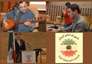 بالا: سیاوش بهمن تهیه کننده کلیپ های ویدیویی، شهروز احمدی  پایین: شقایق مشکی