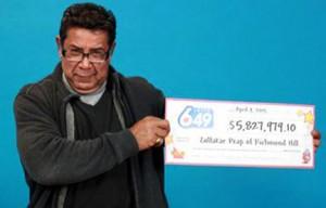 ذوالفقار دانش پیپ برنده ی لاتاری از ریچموندهیل