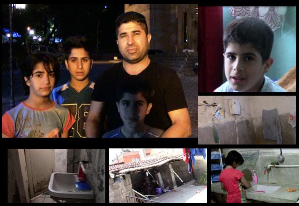 یاسین الیاسی پدری که دارد سه فرزند را با شرایط سخت پناهجویی در ترکیه بزرگ می کند