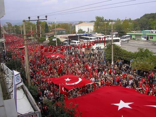 تظاهرات مخالفان پ ک ک در ترکیه