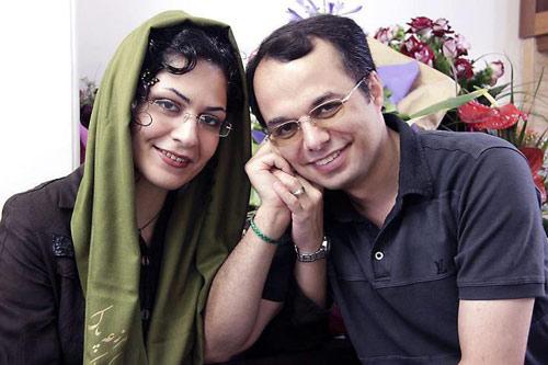 بهاره هدایت و همسرش امین احمدیان