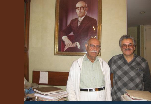حسن گل محمدی (راست) در کنار زنده یاد عبدالرحیم جعفری