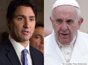-JUSTIN-TRUDEAU-POPE-FRANCIS
