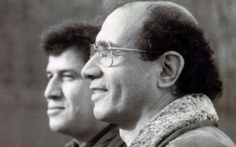 از راست: محمد مختاری، مسعود نقره کار