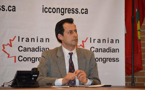 ارسلان کهنمویی پور رئیس کنگره ایرانیان کانادا