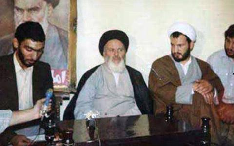 از راست: رازینی، موسوی اردبیلی، پورمحمدی در دهه 60